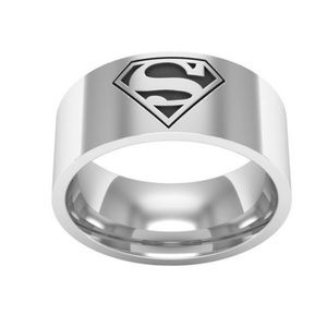 Other - Superman Superwoman 316L Stainless Steel Ring Band